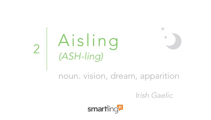 #2 Aisling  The 50 Most Beautiful Words in the Irish Language