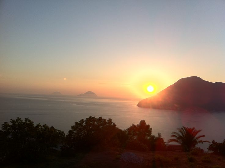 Sunset in the Eolian Islands