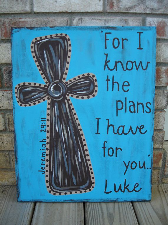 Cross Scripture Painted Personalized Child's by TheGiftingSpot, $35.00