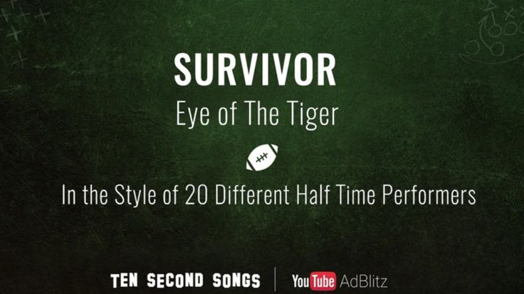 Survivor's 'Eye of the Tiger' in the Style of 20 Different Super Bowl Halftime Performers