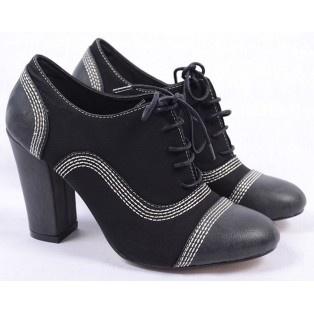 Pantofi de Dama Oxford Color Black