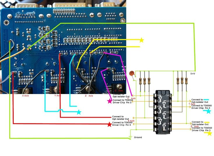 Fixing a Chinese Made CNC Stepper Motor Driver Board (TB6560 chips) === CNC Controller Board modifications