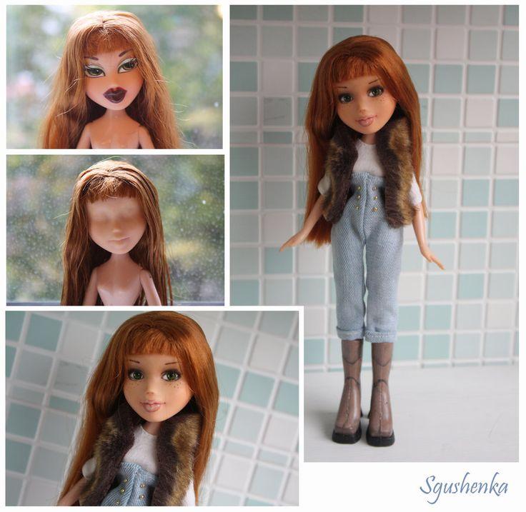 Bratz OOAK by Sgus-henka.  This artist makes a bratz doll sweet!  Oh the skill!!!!!