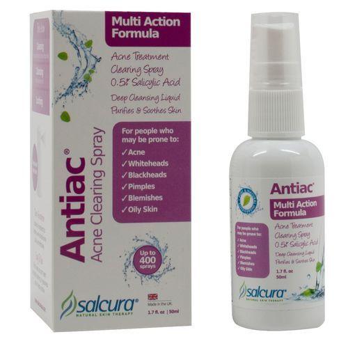 Καλύτερη τιμή στην Ελλάδα Salcura Naturals Antiac Acne Clearing Spray  - 1.7 fl oz από eVitamins.com.  βρίσκω Antiac Acne Clearing Spray σχόλια, τις παρενέργειες, κουπόνια και άλλα από eVitamins. Γρήγορη και αξιόπιστη αποστολή στην Ελλάδα. Antiac Acne Clearing Spray και άλλα προϊόντα από Salcura Naturals για όλες τις ανάγκες της υγείας σας.