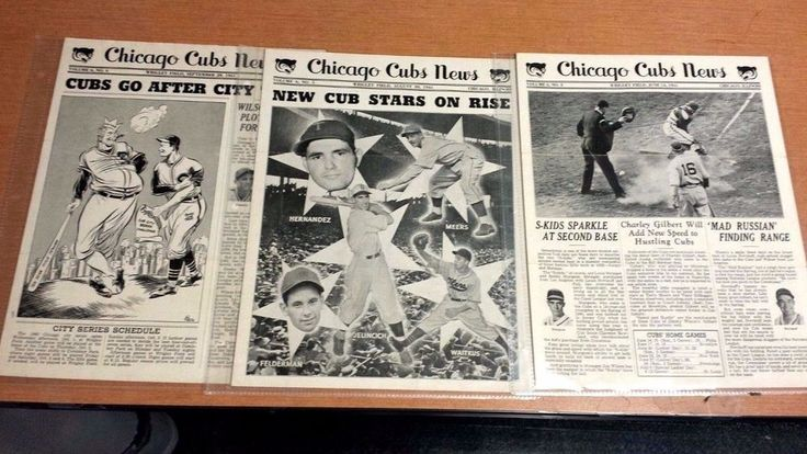 1941 CHICAGO CUBS NEWS Newsletter lot of (3): Phil Cavarretta STAN HACK CUBS-SOX