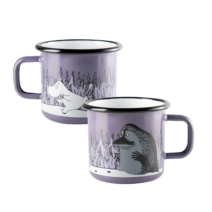 Moomintroll and the Groke enamel mug, purple 3,7 dl - The Official Moomin Shop  - 2