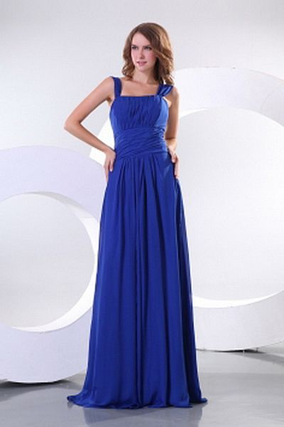 Straps A-Line Chiffon Bridesmaids Gowns wr2786 - http://www.weddingrobe.co.uk/straps-a-line-chiffon-bridesmaids-gowns-wr2786.html - NECKLINE: Straps. FABRIC: Chiffon. SLEEVE: Sleeveless. COLOR: Blue. SILHOUETTE: A-Line. - 69.59