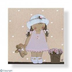 Cuadro infantil Niña con sombrero