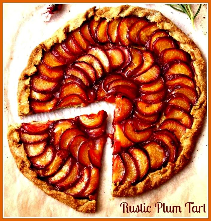 Rustic Plum Tart. http://www.ifood.tv/recipe/rustic-plum-and-nectarine-tart- would be yummy with all those farmers market plums!