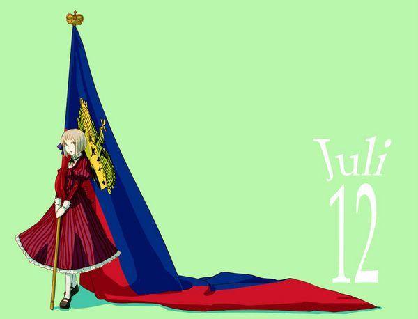 Hetalia birthdays: Lotte (head-canon name for Liechtenstein), July 12 - Art by ふづき on Pixiv, found via timooxenstierna.tumblr.com