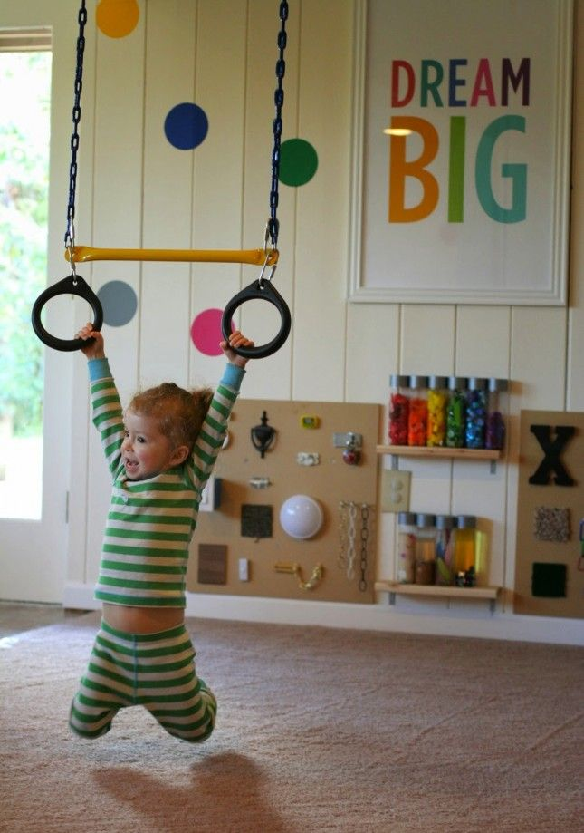 Be Active: If you have the space, an indoor swing is probably the coolest thing ever.
