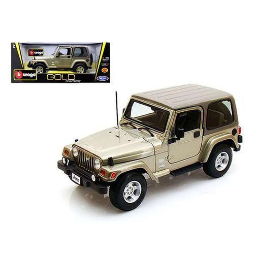 Jeep Wrangler Sahara Khaki 1/18 Diecast Car Model by Bburago