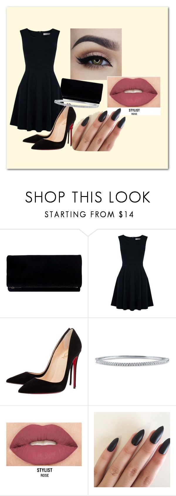 """blue"" by vanessaxavierdeandrade on Polyvore featuring Oasis, Christian Louboutin, BERRICLE and Smashbox"