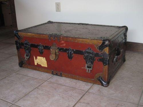 Vintage Antique Mid Century Modern William Bal Chest Trunk