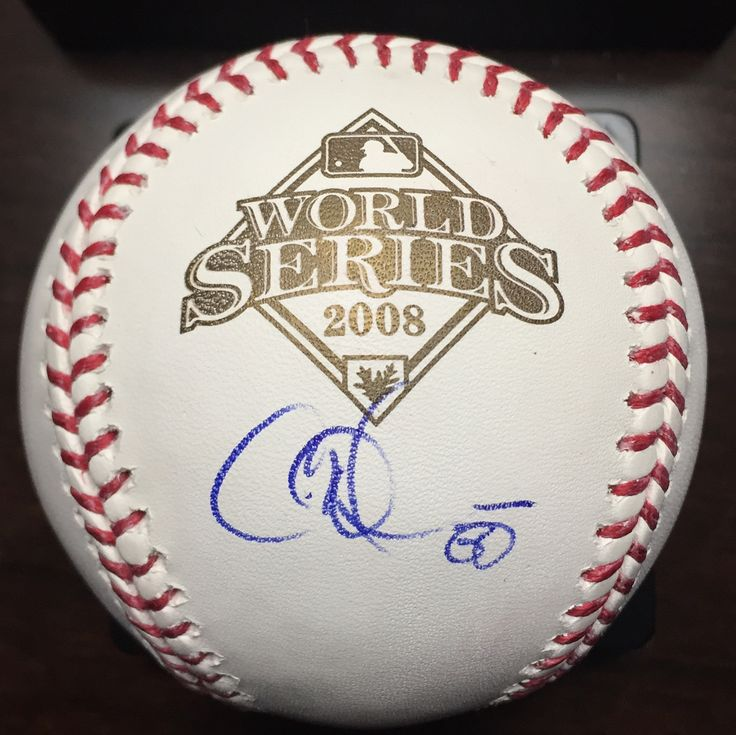 Got Cole Hamels on the 2008 WS ball today. Didnt seem like he wanted to sign for me for some reason.  IP 2/18/2018 - Surprise AZ #rangers #texasrangers #phillies #worldseries #mvp #allstar #colehamels #logoballs #signed #baseball #az #cactusleague #thehobby