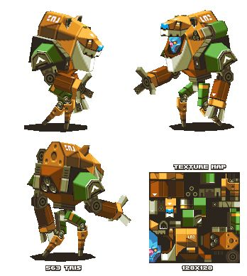 Lowpoly Alien Mech-suit thing by KennethFejer on DeviantArt