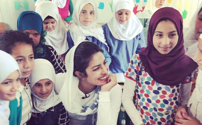 Priyanka Shares Special Messages For Katrina Kaif, Shah Rukh Khan, Salman Khan From JordanBollywood actress Priyanka Chopra shared a special message for celebrities like Shah Rukh Khan, Salman Khan, Katrina Kaif and Akshay Kumar from a fan all the way from Jordan.  Priyanka on Tuesday shared a video featuring a girl named Wafaa from a refugee camp in Jordan, where she has gone as Unicef Goodwill Ambassador.   Priyanka shares 'love' for Katrina, SRK, Salman from Jordan Priyanka Shares Special…