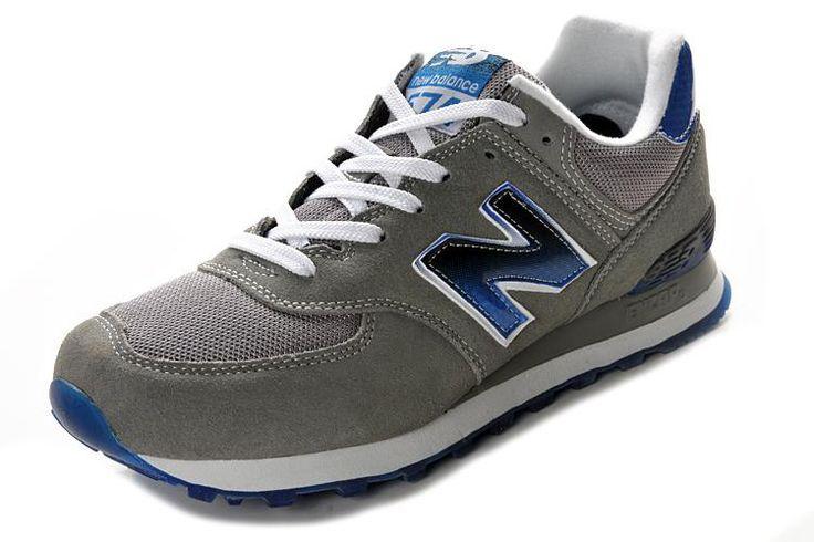 new balance 574 grey blue red