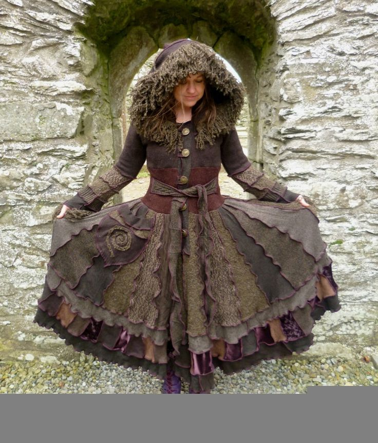 Ragamuffin - Gypsy sweater coat from recycled sweaters by SpiralGypsy Size S/M Ready To Ship. $465.00, via Etsy.