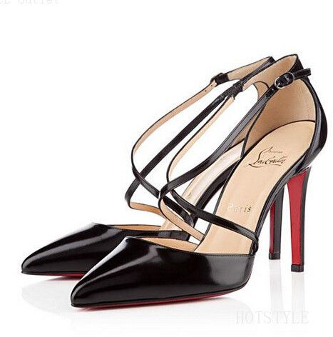 The Newest Styles Of Christian Louboutin Crosspiga 120mm Pumps Black DRS Is Now On Hot Sale And At Huge Discount!