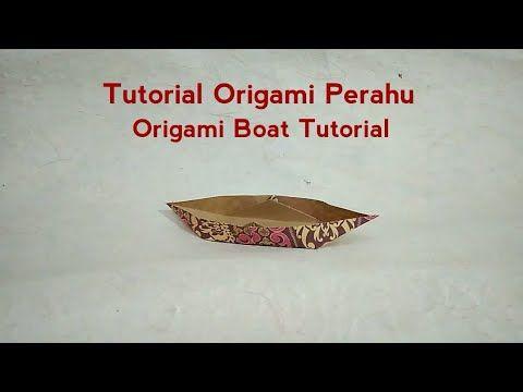 Origami Boat (Sampan) Tutorial : Easy & Larger