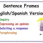 These can be made into anchor charts for the classroom or small flip charts for different student tasks.  These sentence frames are just wh...