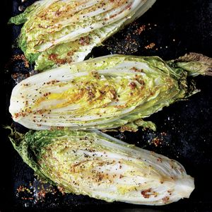 Sweet and Sour Roasted Napa Cabbage Wedges | MyRecipes.com  Caramelizing cabbage under the broiler draws out its natural sugars and deepens the flavor of the glaze. Preheat the roasting pan to jump-start the browning process.