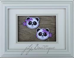 Purple Pandas Hair Clips -$5.00 for pair available on jLj Bowtique