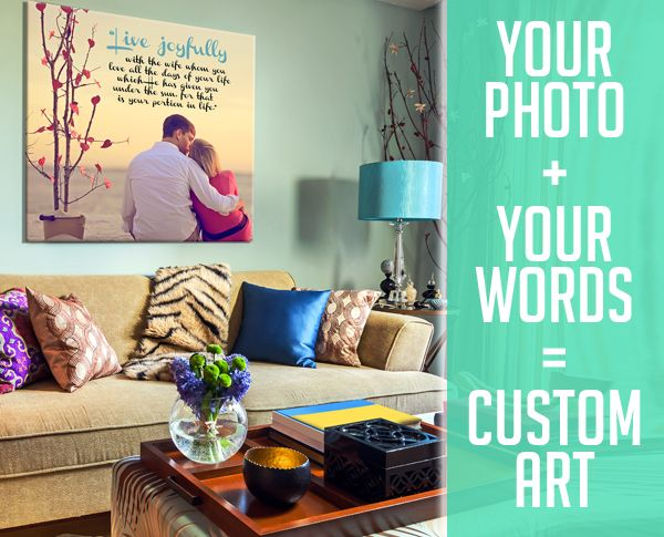 Geezees LLC Custom Canvas Photos Word Art On Personalized Wall Wedding Signage Typography Home Decor Gift Printed