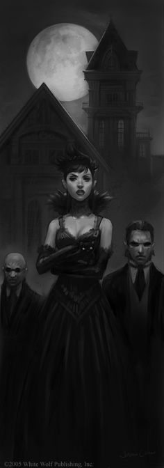 #steampunk #fantasy vampire type characters  Digital Art of Jason Chan
