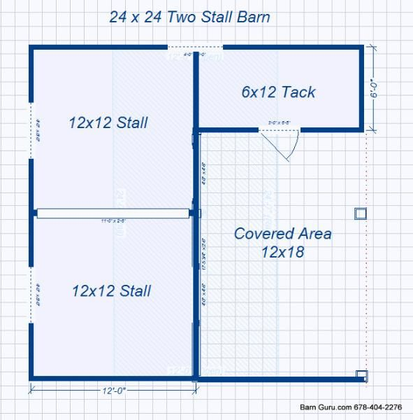 Barn plans 2 stall horse barn design floor plan barns for Barn layouts