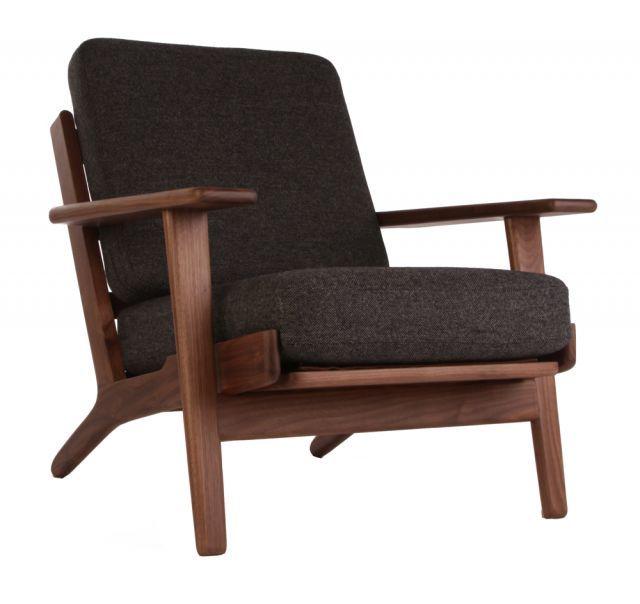 Replica Hans Wegner Plank Armchair - Oak/Walnut | Matt Blatt