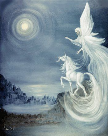 Pretty Pictures of Angels | Unicorn and Angel - unicorns Photo