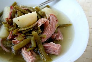 PA Dutch Ham, String Bean and Potato Soup from ovenloveblog.com (a bit of celery salt adds a nice flavor)