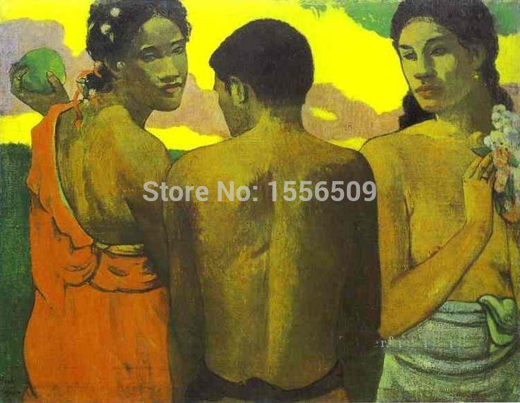 Специальное предложение-Три Таитяне Сообщение Импрессионизм Примитивизм Поль Гоген-ТОП искусство картина маслом реплики-бесплатно стоимость доставки