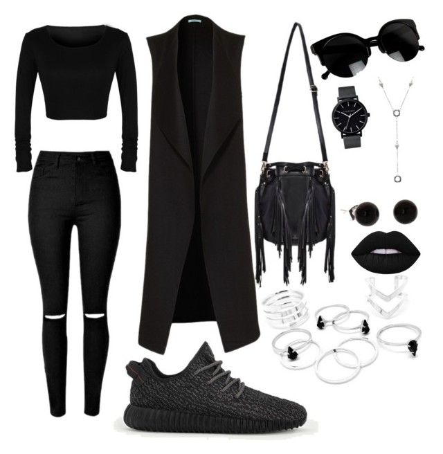 """Techno outfit"" by stefania-marian ❤ liked on Polyvore featuring adidas, The Horse, Tiffany & Co. and Lime Crime"