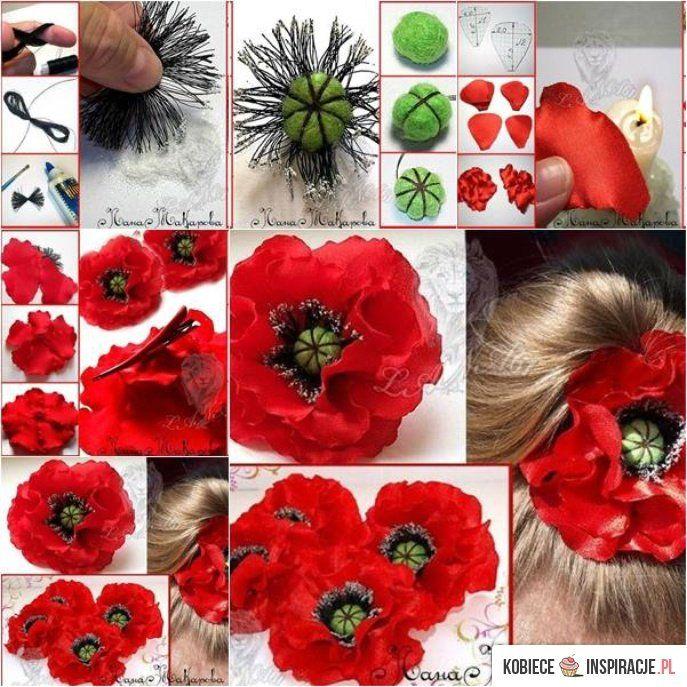 Maki Zrob To Sama Kobieceinspiracje P Na Stylowi Pl Fabric Flowers Diy Fabric Flower Tutorial Flower Diy Crafts