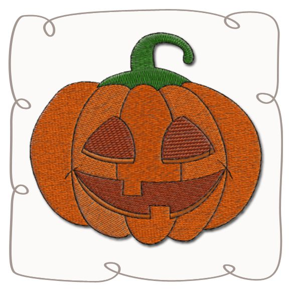 Pumpkin Machine Embroidery Design Pattern-INSTANT DOWNLOAD