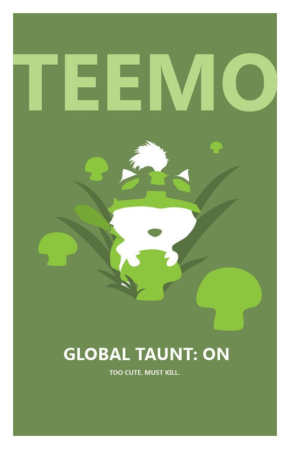 Teemo League of Legends Print by pharafax on Etsy, $14.00