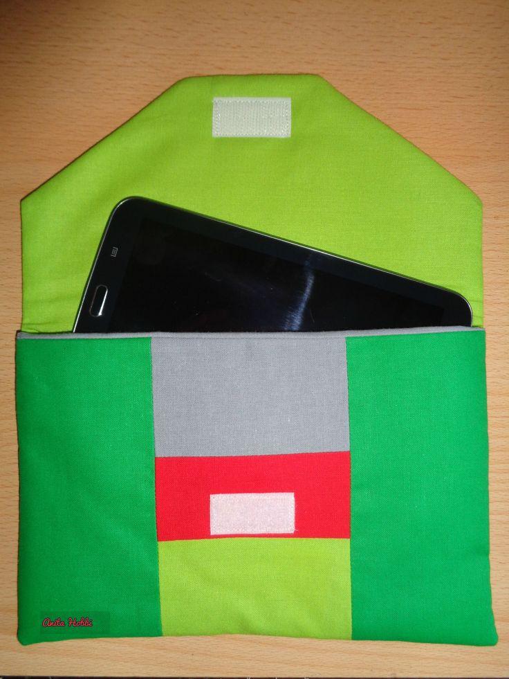 Patchwork iPad tartó,tok,  patchwork Apple iPad bag.