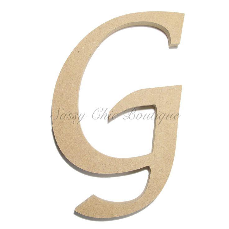 Unfinished Wooden Letter Uppercase G Lucida
