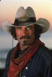 Tom Selleck as a cowboy