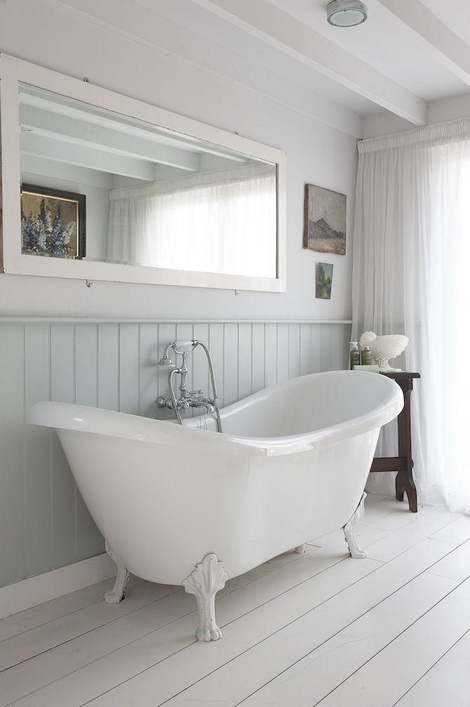 clawfoot baby bath tub. England  Edwardian Home in Rye Bathroom Interior Federation House Bath tubs
