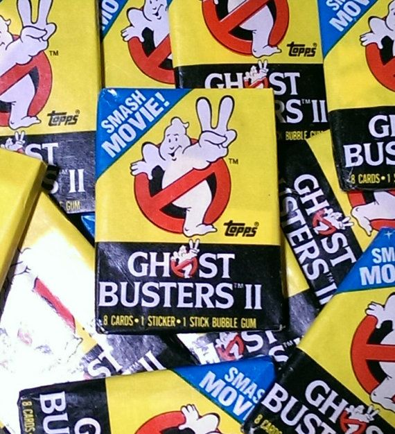 Ghost Busters II Official Movie Trading by TheAngryToaster on etsy