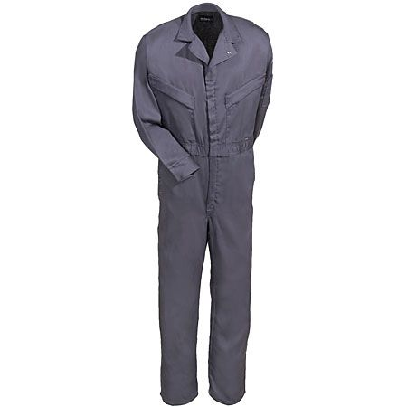 Bulwark Men's CLD4 GY Grey Flame-Resistant Work Coveralls