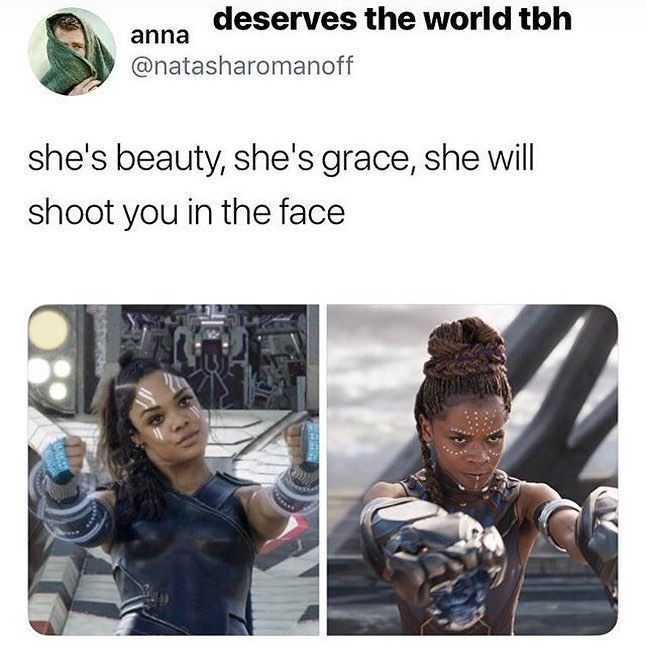 Ooooohh, I need Shuri and Valkyrie to meet and kick some serious ass together!!!