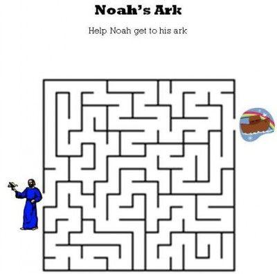 kids bible worksheets free printable noahs ark maze sskcvbs activities pinterest bible for kids ark and bible