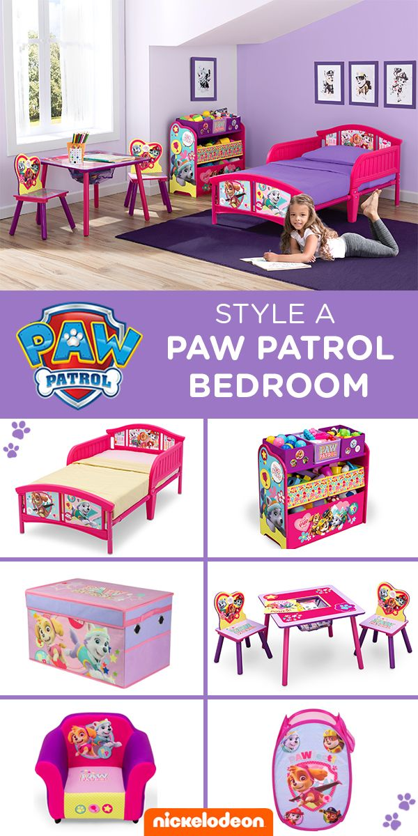 Transform Your Toddler S Bedroom With The Paw Patrol Skye And