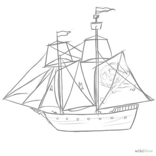 Pirate ship drawing - photo#23