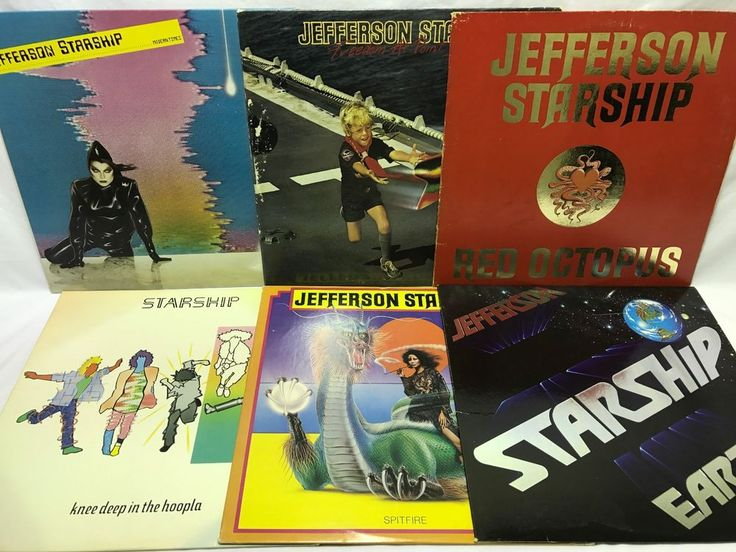 Jefferson Starship LP Vinyl Record Lot: Knee Deep in the Hoopla + Modern Times + stores.ebay.com/capcollectibles